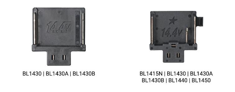Makita accu platen zwart 14,4V en 14,v4V ster