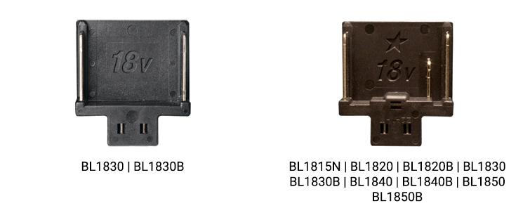 Makita accu platen zwart 18V en 18V ster