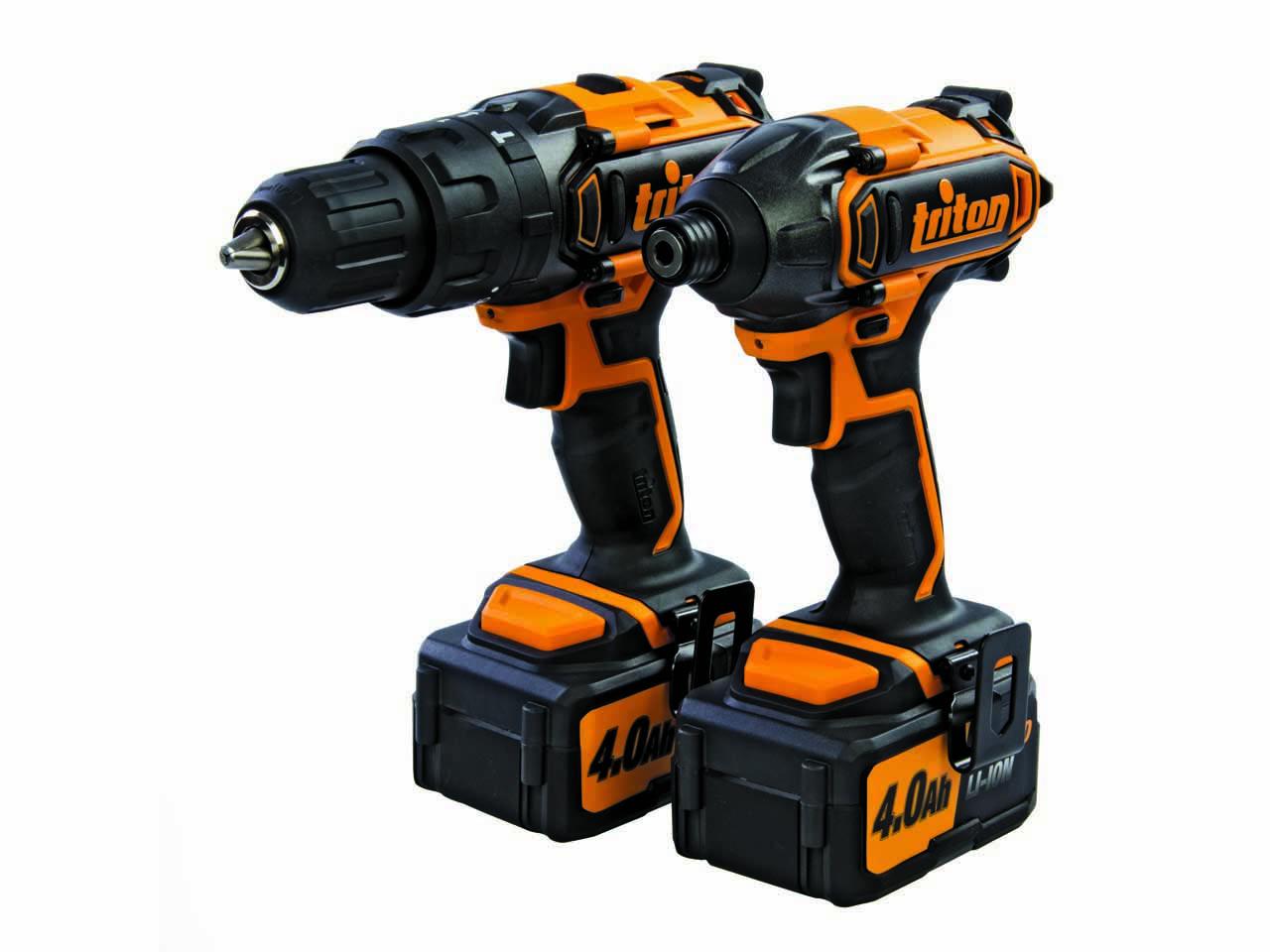 - Triton T20TP01 20V Li - Ion accu klopboor -/schroefmachine en slagschroevendraaier combiset(2x 4.0Ah )