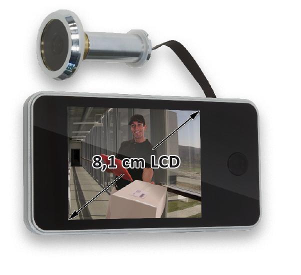 Afbeelding van Batavia 7062072 Digitale deurspion met LCD scherm 8,1cm
