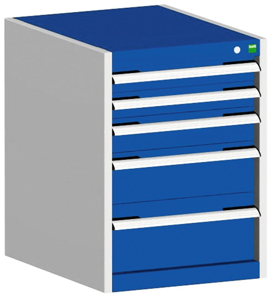 Afbeelding van Bott 40018027.11V Ladenkast Staal 5 laden 650 x 525 700mm