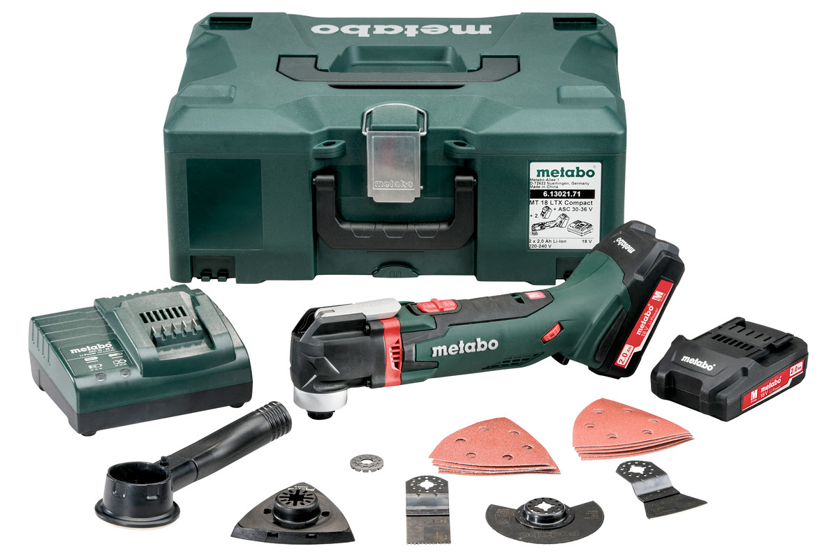 Metabo MT 18 LTX 18V Li - Ion accu Multitool set(2x 2.0Ah accu)in Metaloc