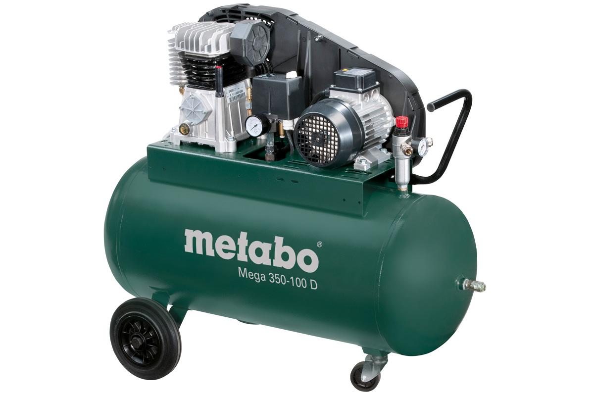 - Metabo Mega 350 - 100 D Compressor - 2200W - 90L - 10 bar - 220 l/min