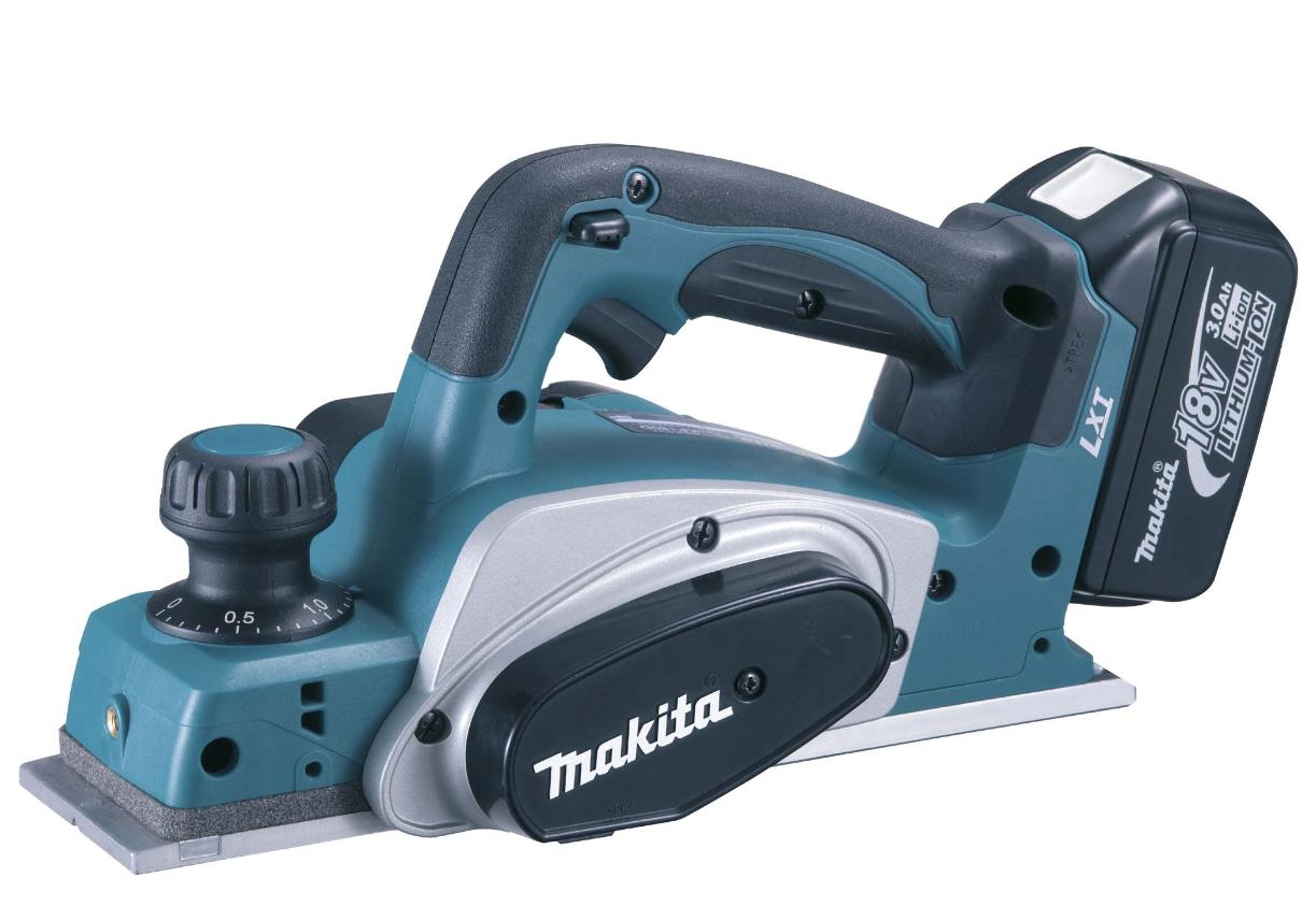 - Makita DKP180RMJ 18V Li - Ion accu schaafmachine set(2x 4.0Ah accu)in Mbox - 82mm - 2mm