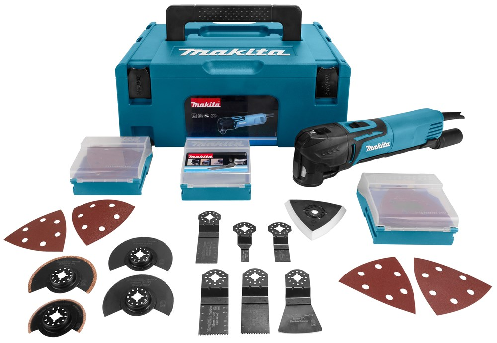 Makita TM3010CX2J multitool set in Mbox + 42 delige accessoireset