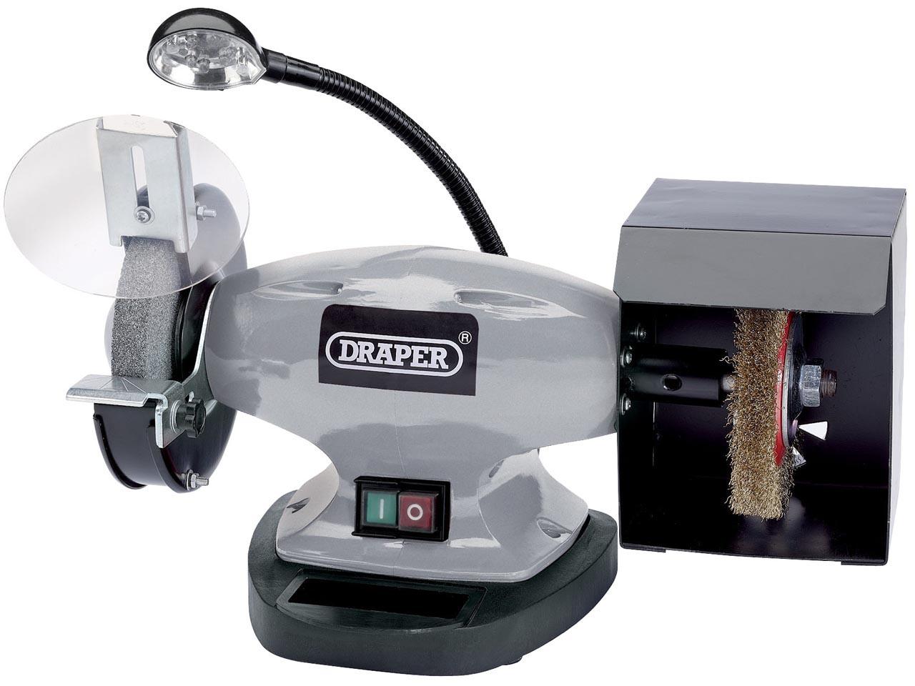 Afbeelding van Draper 83421 Dubbele tafelslijpmachine met werklamp 370W 150 x 20 12,7mm
