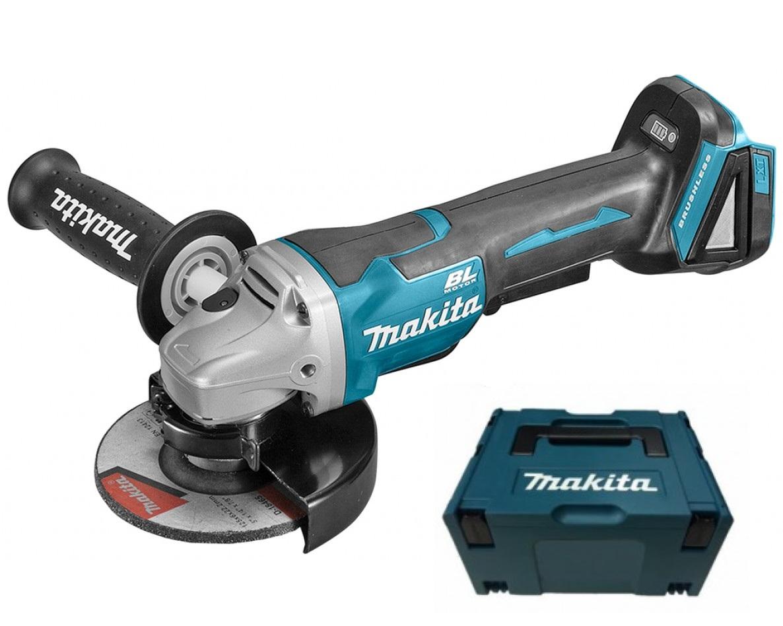 - Makita DGA508ZJ 18V Li - Ion Accu haakse slijper body in Mbox - 125mm - koolborstelloos - softstart