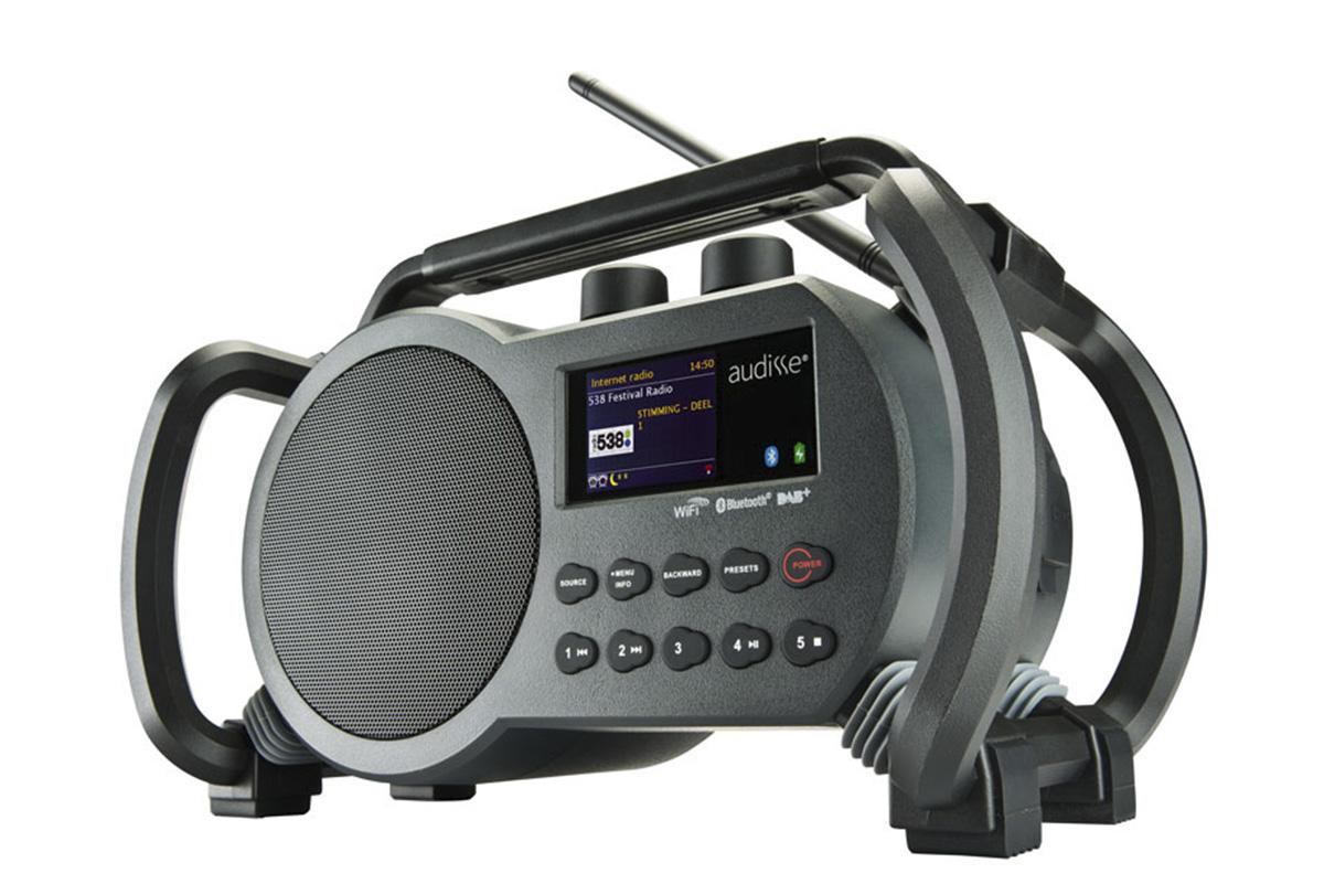Afbeelding van AUDISSE (by Perfectpro) NETBOX WiFi Internet accu bouwradio FM RDS DAB+ werkt op netstroom & batterij (batterijen inbegrepen)