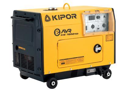 - Kipor KDE7500TD Diesel Aggregaat - 5700W(230V) - 1 cylinder