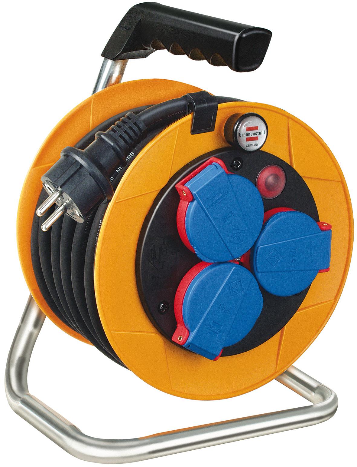 Afbeelding van Brennenstuhl 1072500 Brobusta Kompakt IP44 kabelhaspel H07RN F 3G1,5 10m
