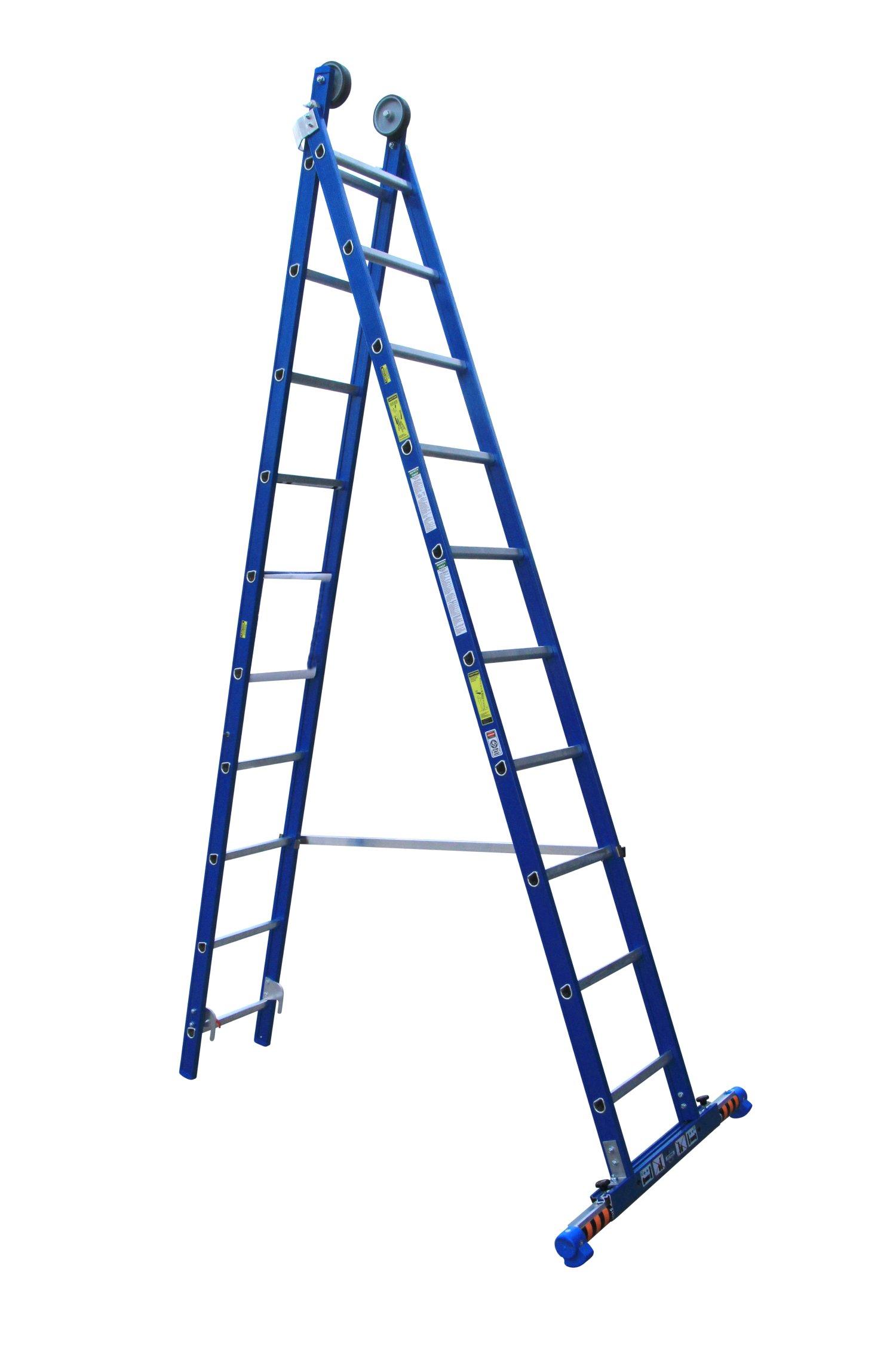 Afbeelding van ASC 200214 XD Ladder 2x10 niveaus recht met stabilisatiebalk