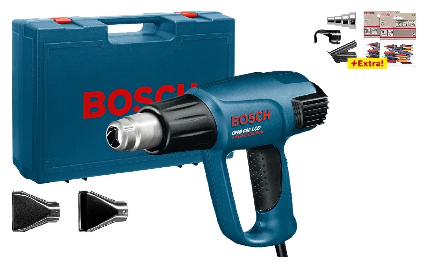 - Bosch GHG 660 LCD Heteluchtpistool + accessoires in koffer