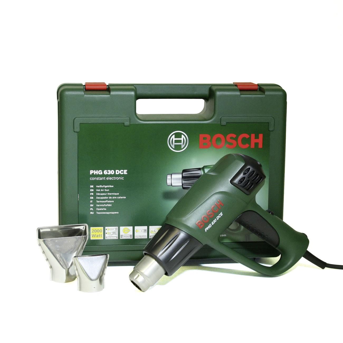 - Bosch PHG 630 DCE Heteluchtpistool incl. 2 mondstukken in koffer