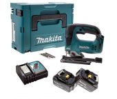 Makita DJV182RTJ 18V Li-Ion Accu decoupeerzaag set (2x 5.0Ah accu) in Mbox - D-greep - variabel - koolborstelloos