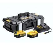 DeWalt DCZ119M2K 18V Li-Ion accu starterset (2x 4.0Ah) + autolader in koffer