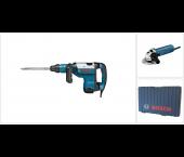 Bosch 0615990GH7 GSH 7 VC SDS-max Breekhamer in koffer - 850W - 13J & GWS 850 C Haakse slijper - 850W – 125mm –