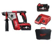 Milwaukee M18 BH-402C 18V Li-Ion Accu SDS-plus boorhamer set (2x 4.0Ah accu) in koffer - 1,2J - 4933443330