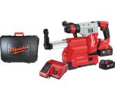 Milwaukee M18 CHXDE-502C 18V Li-Ion Accu SDS-plus combihamer incl. stofafzuiging set (2x 5.0Ah accu) in koffer - 2,5J - koolborstelloos - 4933448185