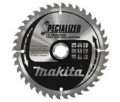 Makita B-09503 Specialized Cirkelzaagblad - 190 x 30 x 40T - Hout (Met nagels)
