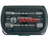 Bosch 2607017313 6 delige doppenset met bitopname in cassettte