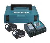 Makita 196866-5 18V Li-Ion accu starterset (2x 4.0Ah) + lader in Mbox