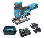 Makita DJV181RTJ 18V Li-Ion Accu decoupeerzaag set (2x 5.0Ah accu) in Mbox - T-greep - variabel - koolborstelloos