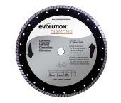Evolution EVO355DIA Diamantdoorslijpschijf - 355 x 25,4 x 3mm - tegels