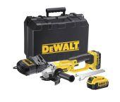 DeWalt DCG412M2 18V Li-Ion Accu haakse slijper set (2x 4.0Ah accu) in koffer - 125mm - DCG412M2-QW