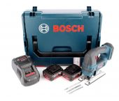 Bosch GST 18 V-LI B 18V Li-Ion Accu decoupeerzaag set (2x 5.0Ah accu) in L-Boxx - D-greep - variabel - 06015A6103