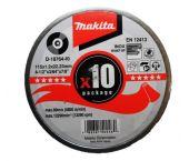 Makita D-18764 Doorslijpschijf - 115 x 22,23 x 1,2mm - RVS - inox (10st)