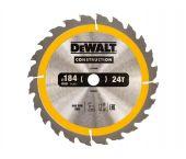 DeWalt DT1939 Cirkelzaagblad - 184 x 16 x 24T - Hout - DT1939-QZ