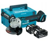 Makita DGA506RTJ 18V Li-Ion Accu haakse slijper set (2x 5.0Ah accu) in Mbox - 125mm - koolborstelloos - softstart