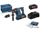 Bosch GBH 36 VF-LI Plus 36V Li-Ion Accu SDS-plus combihamer incl. snelspanboorkop set in L-Boxx (2x 4.0Ah accu)  - 3,2J + 26 delige Gedore set in L-boxx - 0615990J7G