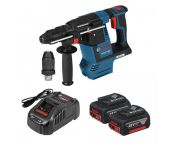 Bosch GBH 18V-26 F 18V Li-Ion Accu SDS-plus combihamer set (2x 5.0Ah accu) in L-Boxx - 2,6J - koolborstelloos - 0611910007