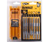 DeWalt DT2298 14 delig Decoupeerzaagblad set XPC in cassette - Hout / Kunststof / Laminaat - DT2298-QZ