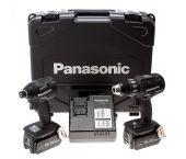 Panasonic EYC215LJ2G 18V Li-Ion accu boor-/schroefmachine (EY74A2X) & Slagschroevendraaier (EY75A7X) combiset (2x 5.0Ah accu) in koffer - koolborstelloos