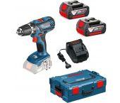 Bosch GSR 18-2-LI Plus 18V Li-Ion accu schroef-/boormachine set in L-boxx (2x 4,0Ah accu) - 63 / 24Nm - 0615990HH5