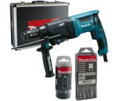 Makita HR2611FT13 SDS-plus Combihamer incl. snelspanboorkop in koffer - 800W - 2,4J