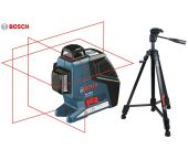 Bosch GLL 3-80 P kruislijnlaser in tas + statief (BT 150) - 40-80m - 0601063306