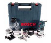 Bosch GKF 600 SET kantenfrees + extra accessoires in koffer - 600W - 6-8mm - 060160A101