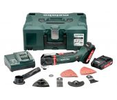 Metabo MT 18 LTX 18V Li-Ion Accu multitool set (2x 2.0Ah accu) + 16 delige accessoireset in Metaloc - 613021710