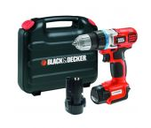 Black and Decker EGBL108KB 10.8V Li-Ion accu boor-/schroefmachine set (2x 1.3Ah accu) in koffer - EGBL108KB-QW