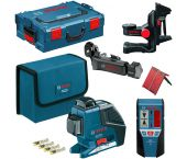 Bosch GLL 3-80 P kruislijnlaser + LR 2 ontvanger + BM 1 Houder in L-Boxx - 060106330A