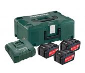Metabo 685068000 18V Li-Ion accu starterset (3x 5.2Ah) + lader in Metaloc