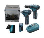 Makita LCT303X 10.8V Li-Ion accu combi set (2x 1.3Ah accu) in koffer incl. accessoires LCT303