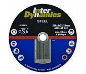 InterDynamics 391115 Diamantdoorslijpschijf - 115 x 22,23 x 3mm - metaal