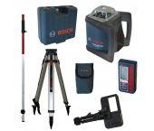 Bosch GRL 500 HV rotatie laser set + LR 50 ontvanger in koffer + BT 170 HD Statief + GR 240 Meetlat - 06159940EF