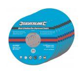 Silverline 224514 Metaal slijpschijven met verzonken center - 115 x 6 x 22,2mm (10st) - Non-ferro metalen