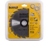 DeWalt DT1148 Extreme Cirkelzaagblad - 184 x 30 x 18T - Hout (Met nagels) - DT1148-QZ