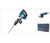 Bosch 0615990GH8 SDS-max Breekhamer in koffer - 1700W - 23J & GWS 850 C Haakse slijper - 850W - 125mm